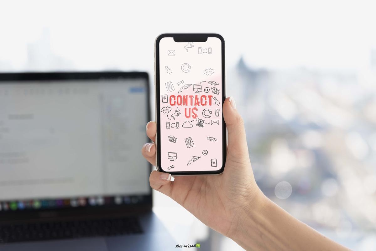 موکاپ طبیعی موبایل برای پیشنمایش اپلیکیشن برنامه نویسان اندروید