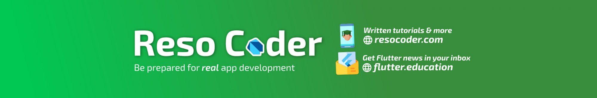 کانال یوتیوب جهت آموزش برنامه نویسی اندروید | رسو کدر | reso coder | آموزش کاتلین و فلاتر
